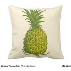 Vintage Pineapple Throw Pillow (38 AUD) ❤ liked on Polyvore featuring home, home decor, throw pillows, vintage home accessories, vintage throw pillows, vintage home decor, pineapple home decor and pineapple home accessories