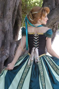 """Anna Coronation Wig and Cosplay by glimmerwood.deviantart.com on @deviantART - From """"Frozen"""". I love this shot for showing a back view :D"""