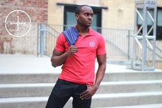 Brand-new #Mens #Polo from #NeoDaviso. Available in blue, red, and coming soon, green. www.NeoDaviso.com. #Philly #Fashion #Style