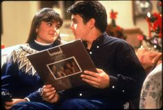 Still of Fred Savage and Danica McKellar in The Wonder Years