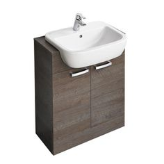 Ideal Standard Part No: Free UK delivery in approx 3 working days. Basin Unit, Basin Mixer Taps, Countertop Basin, Countertops, Bathroom Cabinets, Bathroom Furniture, Soft Closing Hinges, Mirror With Led Lights, Gray Vanity