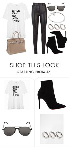 """Sin título #12221"" by vany-alvarado ❤ liked on Polyvore featuring Christian Louboutin, Hermès, Yves Saint Laurent and ASOS"