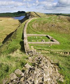 Hadrians Wall. ༺✿༺ The remains of the outline of a square stone building can be seen. Hadrian's Wall was the north-west frontier of the Roman empire for nearly 300 years. It was built by the Roman army on the orders of the emperor Hadrian.