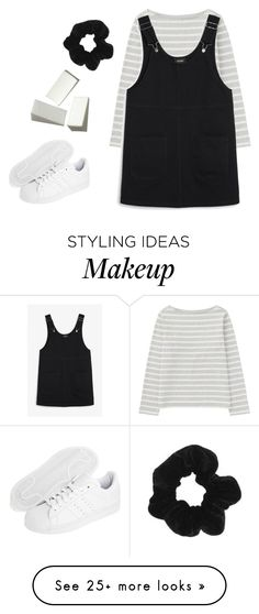 """""""wash your hairs"""" by hunter995 on Polyvore featuring Uniqlo, Monki, adidas Originals and Topshop"""