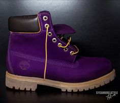 """purple timberland boots for women   Image of """"Eggplant Purple"""" Sycamore Style Custom Dyed Timberland Boot"""