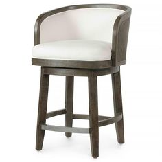 Constructed from hand-distressed hardwood Counter Stools, Bar Stools, Barrel Bar, Weathered Wood, White Furniture, Brown Wood, Rustic Chic, Wrought Iron, Hardwood