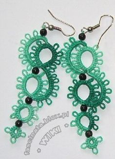 Tatted earrings - free pattern by Robótkowe szaleństwa
