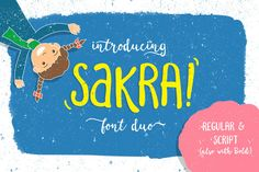 Sakra font duo (30% OFF) by letterhend on @creativemarket