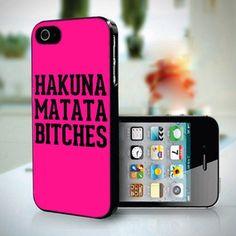 Hakuna Matata Bitches Typography design for iPhone 5 case