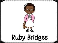 This product includes a poster of Ruby Bridges (see cover page) and pages to help with your report about Ruby Bridges. Included are the following:PosterBubble Map2 Was, Had, Wanted Charts - (one with lines and one without)3 choices of fact writing pgs (1 with lines and a place to draw a picture, 1 with no lines and a picture included and one with a small picture and a place to draw a picture and write facts)There is also a cut and learn flip page.This product can be found in my Black…