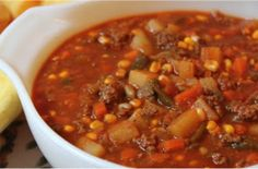 The best weight watchers Soup ever, i love slow cooker recipes. This recipe come with only Tree 3 weight watchers smart points Ingredients: 1 pound extra lean ground beef lean) 1 onion chopped cups) Salt and pepper Crock Pot Recipes, Ww Recipes, Slow Cooker Recipes, Soup Recipes, Cooking Recipes, Healthy Recipes, Crockpot Recipes With Hamburger, Recipies, Healthy Fit