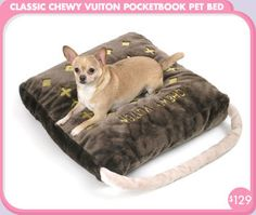 Classic Chewy Vuiton Pocketbook Pet Bed