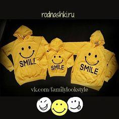 Толстовки на семью «SMILE»