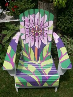 Outdoor Painted Furniture modern outdoor chairs