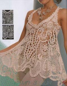 innovart en crochet: Blusas, Minivestidos o Túnicas...