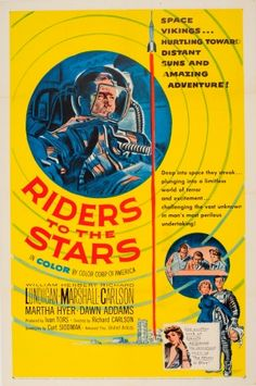 Riders to the Stars, 1954 - original vintage movie poster listed on AntikBar.co.uk
