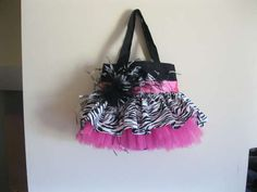 TuTu Bag Tutorial - would be so cute for a diaper bag!!