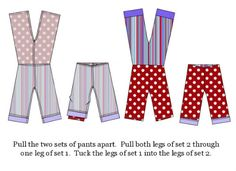 good to know tutorial on sewing reversible pants =)