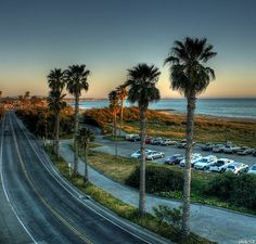 Headed south from C street, Ventura, California by Sheila McPhie Rasak Ventura Beach, Ventura California, Ventura County, Ventura Highway, Places In California, California Dreamin', Beautiful Sites, Beautiful Places, Coronado San Diego