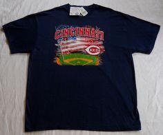 Cincinnati Reds T-Shirt Genuine MLB Merchandise. Men's XL (Deadstock/NWT)