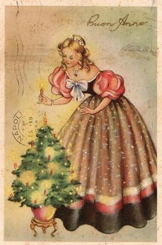 Vintage Christmas postcard from Miss Jane collection Although the origin of Christmas cards came from the early '800 the world's fi...