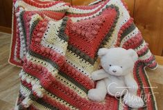 Use this Lovely Crochet Baby Girl Blanket Pattern to make a wonderfully soft baby afghan for any newborn. This eye-catching baby blanket pattern features a bright pink, brown, and creme color scheme combined in a square-shaped design. Kids Blankets, Baby Girl Blankets, Baby Afghans, Baby Afghan Crochet Patterns, Baby Blanket Crochet, Blanket Patterns, Crocheted Afghans, Crochet Blankets, Crochet Shawl