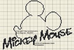Mickey Mouse x-stitch Mickey E Minnie Mouse, Mickey Mouse Crafts, Disney Cross Stitch Patterns, Cross Stitch Charts, Cross Stitching, Cross Stitch Embroidery, C2c Crochet, Crochet Afghans, Filet Crochet