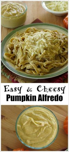 Lightened-Up Pumpkin Pasta Alfredo Sauce recipe is creamy, cheesy and perfect for fall!