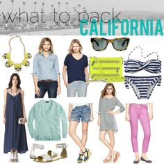 jillggs good life (for less)   a style blog: what to pack: Southern California!