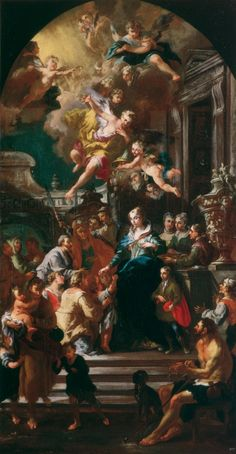 IDLE SPECULATIONS: Saint Elizabeth of Portugal distributing alms to the poor