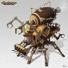 steampunk vehicles by Elle-Shengxuan-Shi on DeviantArt Art Steampunk, Steampunk Robots, Steampunk Design, Steampunk Fashion, Goblin, Arte Cyberpunk, Neo Victorian, Character Design References, Dieselpunk