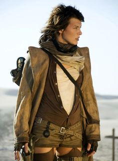 Mila Jovovich   #josephporrodesigns steampunk zombie post apocalyptic fashion adventure