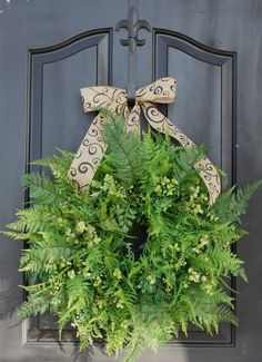 Fern Wreath Wreaths for door Woodland Wreath For by OurSentiments, $89.00