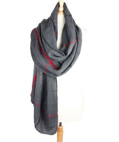 This Charcoal Plaid Scraf by TROO is perfect! #zulilyfinds