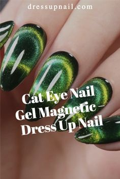 A small set with a magnet to make an awesome cat eye design.    #nails #cateyenails #dressupnail