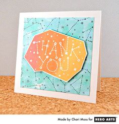 Warm Thank You  By Guest Artist - Scrapbook.com - Beautiful water color thank you by Hero Arts