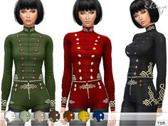 The Sims Resource: Military Jacket by ekinege • Sims 4 Downloads