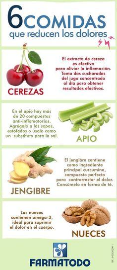 Conoce los alimentos que pueden reducir el dolor #ViveSaludable