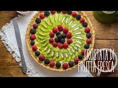 Crostata vegana di frutta con crema pasticcera - Video ricetta Tortillas Veganas, Raw Food Recipes, Healthy Recipes, Vegan Cake, Vegan Sweets, Raw Vegan, Waffles, Buffet, Cooking