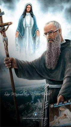 Maximillian Kolbe, St Maximilian, Chi Rho, Catholic Quotes, Catholic Saints, Believe In God, Bible, Faith, Stamp