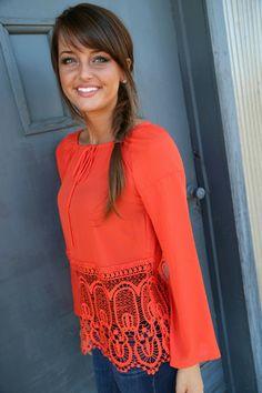 Tangerine Lace Tunic