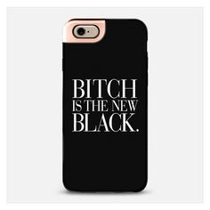 Bitch is the new Black Typography Black White iPhone (€44) ❤ liked on Polyvore featuring accessories, tech accessories, phone cases, phone, iphone and cases