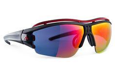 Adidas - Evil Eye Half Rim Pro Black Matte / Black Sunglasess, Red Mirror Lenses