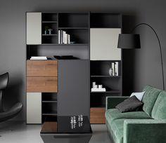 Vestiaire transform en meuble tv industriel metal et bois avec des roulette - Combinaison murale design ...