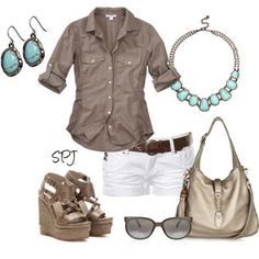 Very cute simple summer outfit