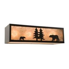 Steel Partners Bear Nature 4 Vanity Light Wall Sconce Shade Color: Khaki, Finish: Architectural Bronze