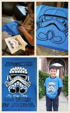 DIY 100 Days Of School Shirt Star Wars Storm Trooper 100 Days Of School Ideas