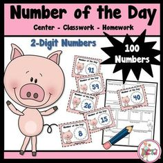 Number of the Day Center from Teachers Take Out on TeachersNotebook.com -  (15 pages)  - A math center to use all year long for number sense, place value, and addition/subtraction skills.