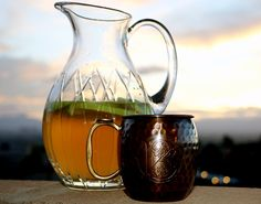 Gingeria Add 1/2 of a Granny Smith apple and 1 bottle of Chardonnay to a pitcher and chill for 1-2 hours. Add 24 oz (3 cups) of Bootleg Botanicals Ginger Beer and stir gently.  Serve in a chilled mule mug.