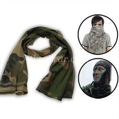 Multi-Use Camouflage Mesh Scarf / Tactical Collar